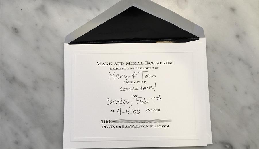 FORMAL FILL-IN INVITATIONS